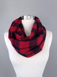 Women's plaid flannel infinity by Morningstardesignsmi on Etsy
