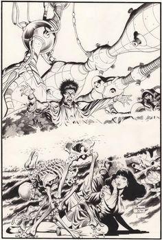 Original Comic Art titled Mark Schultz, located in Zaddick's COVERS Comic Art Gallery Comic Book Pages, Comic Book Artists, Comic Artist, Comic Books Art, Tracing Art, Tinta China, Bd Comics, Comic Kunst, Pulp Art
