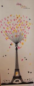 Tour Eiffel à empreintes - Les Bricoles d'Anne-Cé