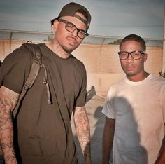 Chris Brown junto a Wackstar.