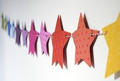 rainbow stars #diy van behangpapier ★ #star