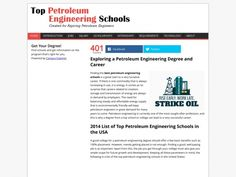 Exploring a Petroleum Engineering Degree and Career & Top Petroleum Engineering Schools