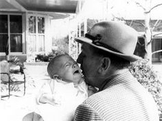 Walt Disney with his Grandson, Christopher Miller. About 1954-55