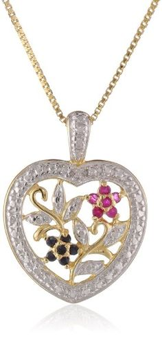 Sterling silver created pink sapphire and diamond heart pendant sterling silver created pink sapphire and diamond heart pendant necklace 02 cttw g h color i2 i3 clarity 18 inch jewelry amazon pinterest aloadofball Image collections