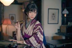 Yukata Kimono, Kimono Japan, Japanese Kimono, Japanese Girl, Era Taisho, Kimono Fashion, Fashion Outfits, Japanese Outfits, Japanese Beauty
