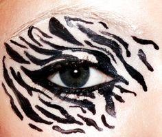 Zebra Eye Makeup