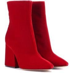 a0f8949ca Maison Margiela Velvet Ankle Boots ($445) ❤ liked on Polyvore featuring  shoes, boots