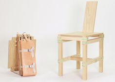 Nomadic Furniture: Backpack of Parts Creates Portable Seat