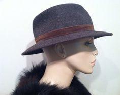 GIORGIO ARMANI Hat FUR Felt Designer Label by talkingfashionnet, $349.99