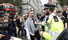 Scottish anti-Israel activist jailed for acid attack Scott Harrison's victim said she felt her face 'melting' during horrific attack in Glasgow last year Illustration: Anti-Israel protesters in London (archive)