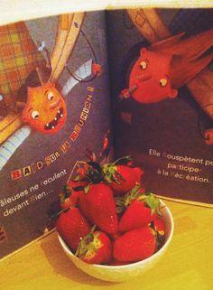 DAY 47 : C'est le printemps! L'heure de se couper les cheveux, de manger des fraises et de sortir les livres pour enfant des cartons!