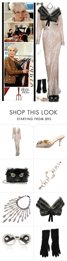 """Miranda Priestly"" by fashionqueen76 ❤ liked on Polyvore featuring Prada and Naeem Khan"