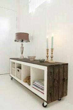 Ikea kast, steigerhout eromheen