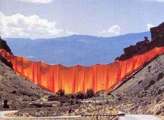curtain-valley-rideau-colorado-christo - La boite verte