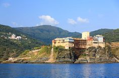 The Holy Monastery of Pantokrator, Mount Athos - The Ascetic Experience Military Ranks, The Transfiguration, Holi, River, City, Outdoor, Outdoors, Holi Celebration, Outdoor Games