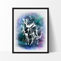 Patronus doe Severus Snape and Lily Potter Harry Potter Watercolor Art.