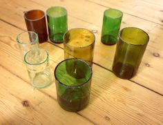 cut bottle glasses