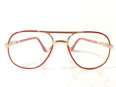 Gafas rojas y oro de metal Bag Margit Dieterle. por MeAndTheMajor, €30.00