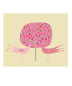 Illustration de l'amour 10 x 8 Art print oiseau par caitlihne