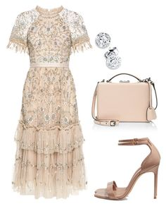"""""""Mood"""" by anniemakuti on Polyvore featuring Needle & Thread, Yves Saint Laurent and Mark Cross"""
