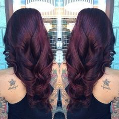 Black Cherry Hair Color for Dark Hair