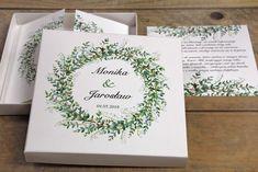 Zielone zaproszenia ślubne w pudełku z konwaliami Amelia Wedding, Wedding Invitations, Wedding Invitation Cards, Wedding Invitation, Save The Date Invitations, Wedding Invitation Design