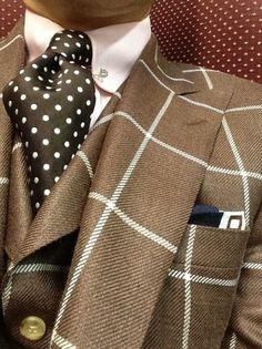 As jacket & vest, a bit out there but Ok for a Dandy style. Style Gentleman, Gentleman Mode, Dapper Gentleman, Mode Masculine, Sharp Dressed Man, Well Dressed Men, Fashion Moda, Look Fashion, Fashion Styles