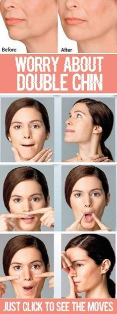 """8 Most Effective Exercises to Reduce Double Chin - Page 2 of.- Fish Face: The fish face exercise, also known as the """"smiling fish face"""" is an easy and one of the best facial - Fitness Workouts, Easy Workouts, Workout Routines, Fitness Weightloss, Gym Routine, Fat Workout, Yoga Facial, Double Chin Exercises, Neck Exercises"""