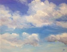 Custom cloud painting. Cloud art. Cloud by pinkwisteriadesigns