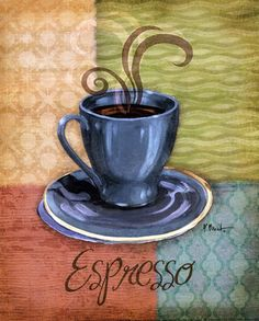 Quattro Coffee III-mini by Paul Brent art print