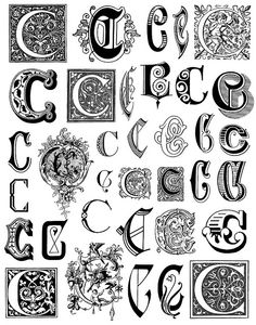 alphabet 4 letter c