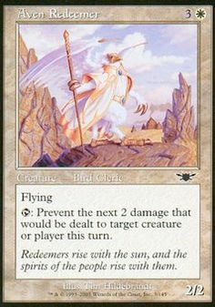 Aven Redeemer - Creature - Bird Cleric - Sun - White - Legions - Magic The Gathering Trading Card