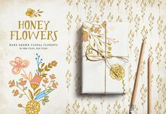 Honey Flowers by Bloomart on @creativemarket