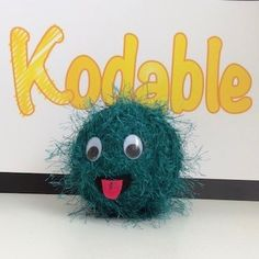 How to make a Kodable Fuzz Computational Thinking, Coding For Kids, Stem Learning, Learn To Code, Fabric Glue, Yarn Ball, Glue Crafts, Back Stitch, Fuzz