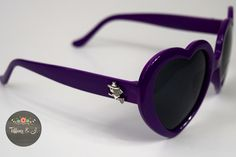 5) purple, witch, love heart sunglasses