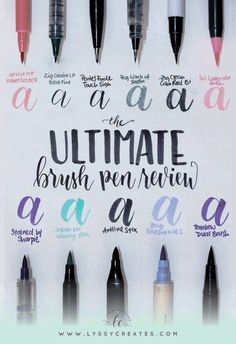 There are so many brush pens out there that it's hard to pick one, so a review is in order — here are the different types of brush pens I own and why and when they are awesome (or not)!