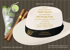 Havana Nights Party Invitation