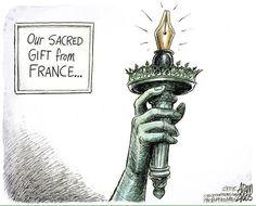 Bel hommage d'un dessinateur américain #JeSuisCharlie via @vbarastier