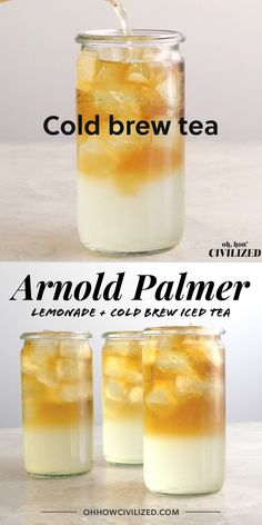 Arnold Palmer (Iced Tea and Lemonade) You cannot have a party without non-alcoholic drinks—but virgi Iced Tea Recipes, Coffee Recipes, Milk Tea Recipes, Drink Recipes, Milk Shakes, Arnold Palmer Iced Tea, Snacks Für Die Party, Iced Tea Lemonade, Fat Burning Detox Drinks