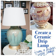 How to create a ceramic drip lamp.