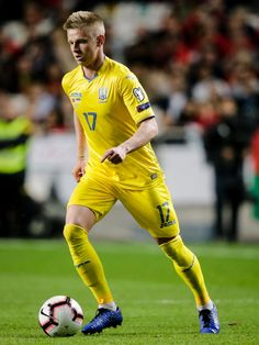 Oleksandr Zinchenko of Ukraine during the EURO Qualifier match between Portugal v Ukraine at the Estádio da Luz on March 2019 in Lissabon Portugal (Photo by Erwin Spek/Soccrates/Getty Images) Ukraine Football, National Football Teams, Euro, Portugal, Soccer, March, Sports, People, Stadium Of Light