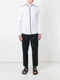 Les Hommes trim detail button down shirt