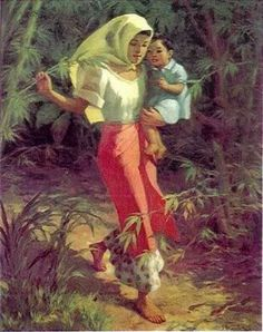INA AT ANAK Fernando Amorsolo is one of The Greatest Filipino Painters of all time. He has done numerous paintings which has catched the fancy of many. Filipino Art, Filipino Culture, Filipino Tribal, Filipino Tattoos, Filipino House, Sun Tattoo Tribal, Tribal Sun, Sun Tattoo Designs, Tattoo Son