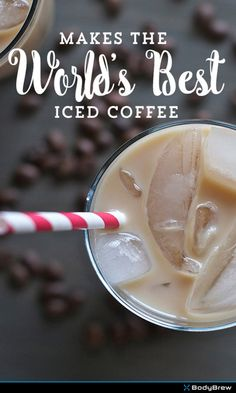 World's Best Iced Coffee--would be great with almond milk ice cubes!