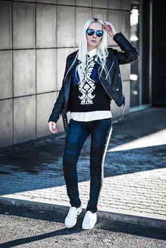 Fashion Secrets with Oksana: Women's Trendy Flash Mirror Lens Lightning Temple Sunglasses 9834