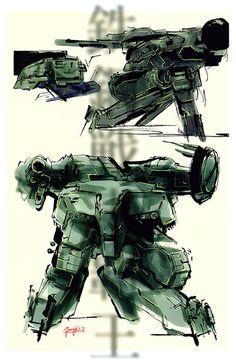 MGS1. Mech Concept. Yoji Shinkawa.