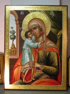 Virgin Mary, Byzantine Icons, Orthodox Christianity, Madonna And Child, Blessed Mother, Our Lady, Art For Kids, Mona Lisa, Child Art