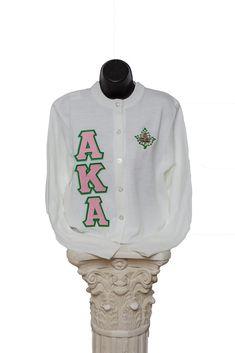 Alpha Kappa Alpha Sweaters & Shirts – Page 2 – Greek Traditions Aka Sorority, Alpha Kappa Alpha Sorority, Sorority And Fraternity, Pink Cardigan Sweater, Sweater Shirt, Alpha Kappa Alpha Paraphernalia, Custom Greek Apparel, Ivy Leaf, Sorority Outfits