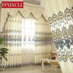 High Quality Modern Luxury Europe Valance Floral Curtains Cloth for Living Room Bedroom Window Curtain Embroidered Tulle - ICON2 Luxury Designer Fixures  High #Quality #Modern #Luxury #Europe #Valance #Floral #Curtains #Cloth #for #Living #Room #Bedroom #Window #Curtain #Embroidered #Tulle