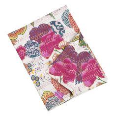 Printed Kantha Stitched Cotton Throw